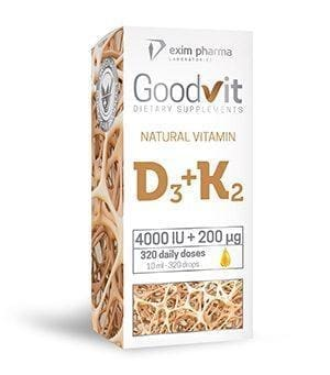 Goodvit Natural Vitamin D3 4000 IU + K2 200 μg – drops